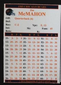 McMahon 85 Card (ZARB)