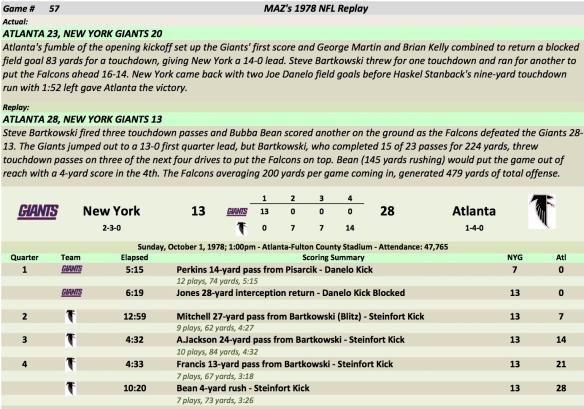 Game 57 NYG at Atl