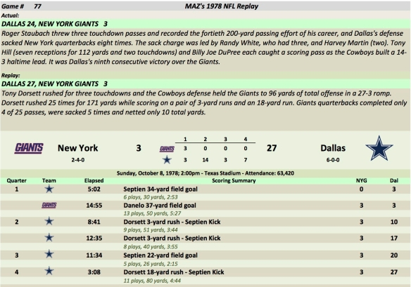 Game 77 NYG at Dal