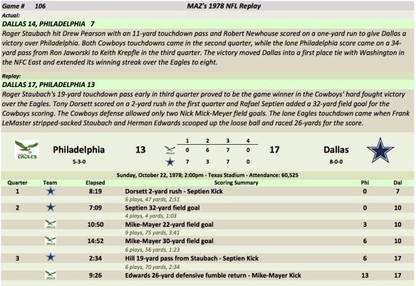 Game 106 Phi at Dal