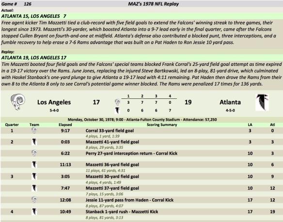 Game 126 LA at AtL