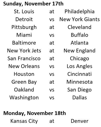 Week 10 Schedule