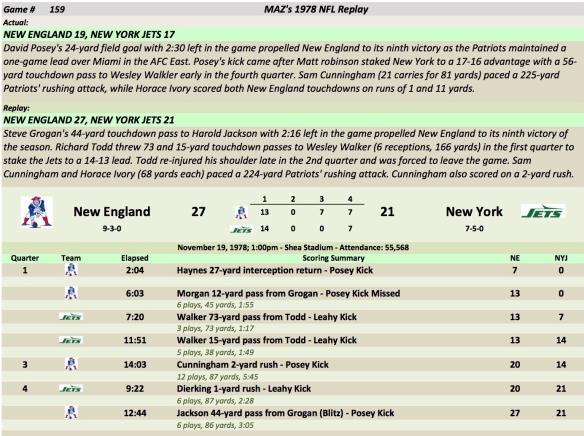 Game 159 NE at NYJ