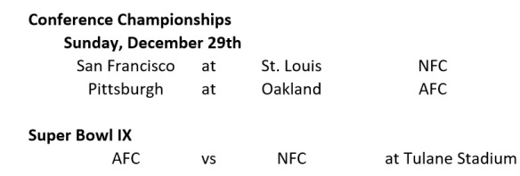 Conference Championship Schedule