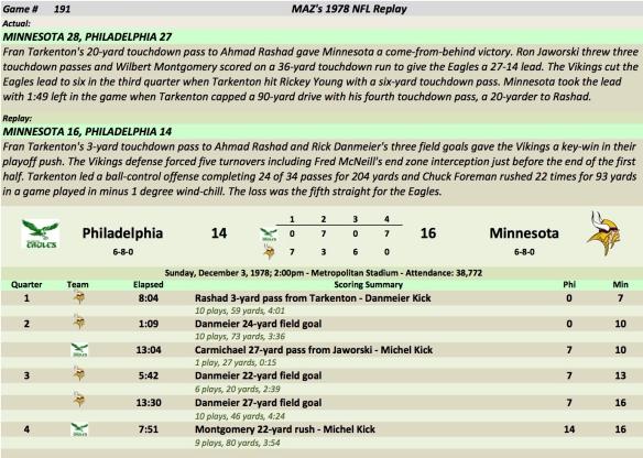 Game 191 Phi at Min