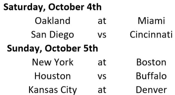 Week Schedule 4