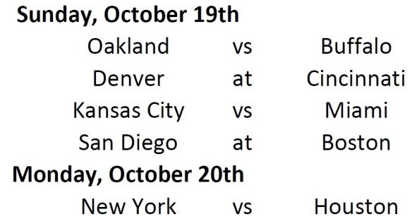 Week Schedule 6