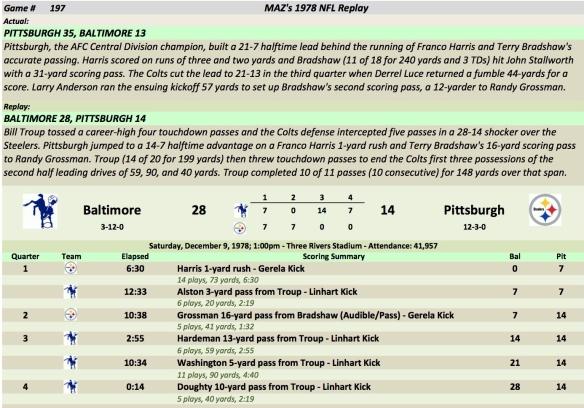Game 197 Bal at Pit
