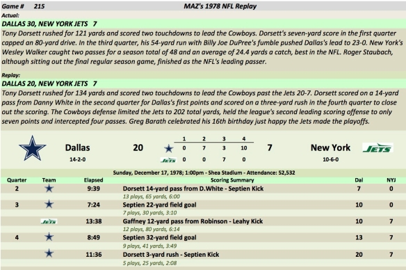 Game 215 Dal at NYJ