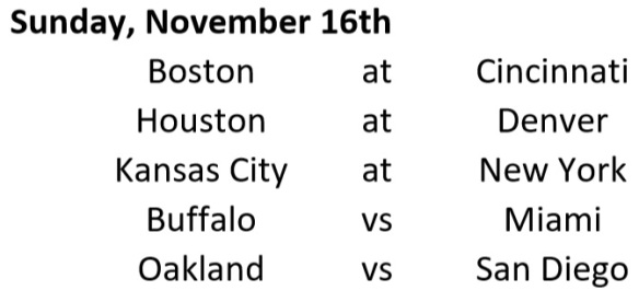 Week Schedule