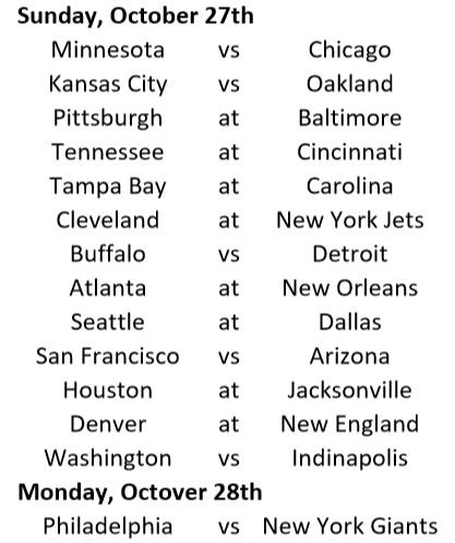 Week Schedule 1