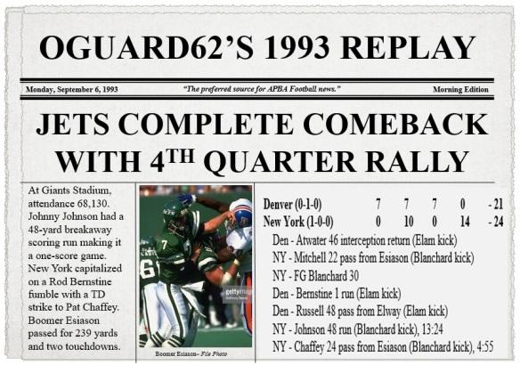 Broncos at Jets (1993)