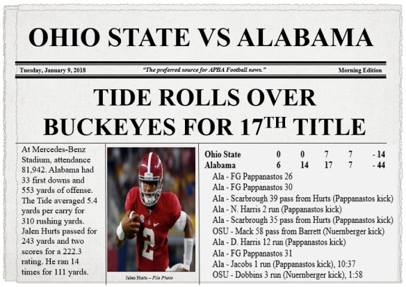 Ohio State vs Alabama