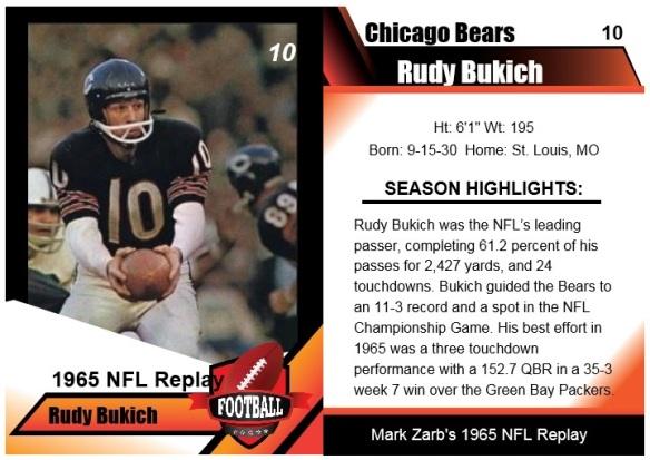 1965 Rudy Bukich Card