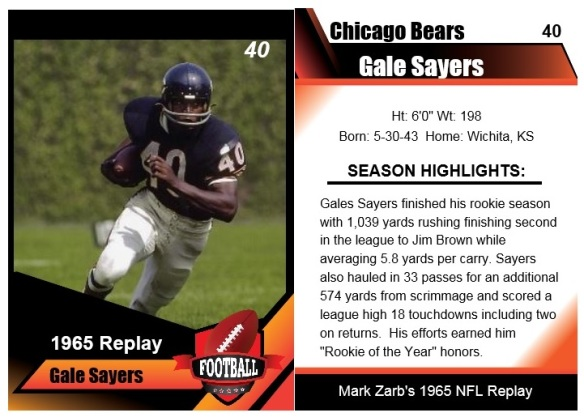 1965 Gale Sayers Card