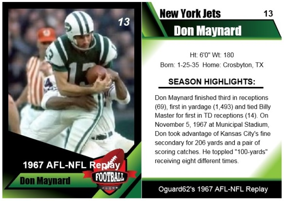1967 Don Maynard Card