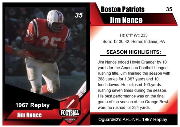 1967 Jim Nance Card