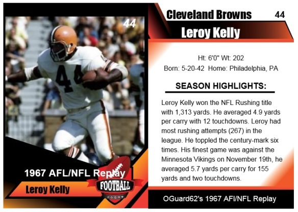 1967 Leroy Kelly Card