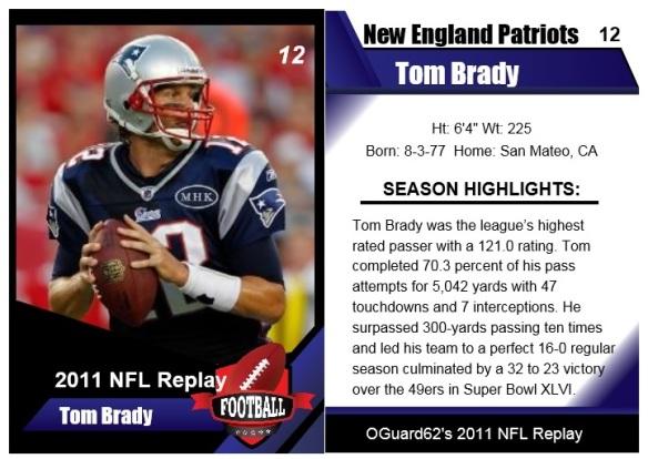 2011 Tom Brady