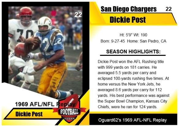 1969- dickie post card