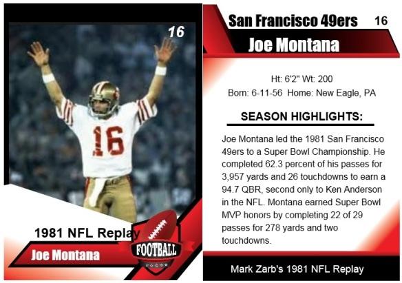 1981 joe montana card