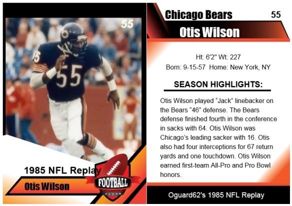 1985 otis wilson card