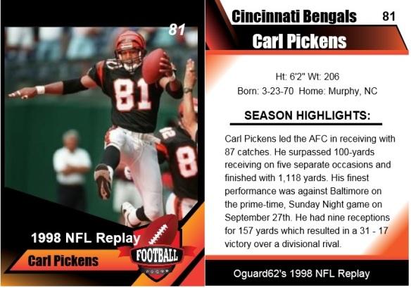 1998 - carl pickens card