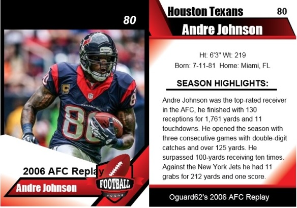 2006 - andre johnson card