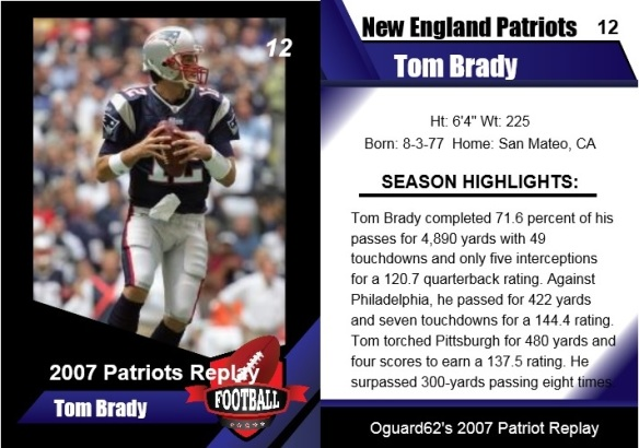 2007 - tom brady card