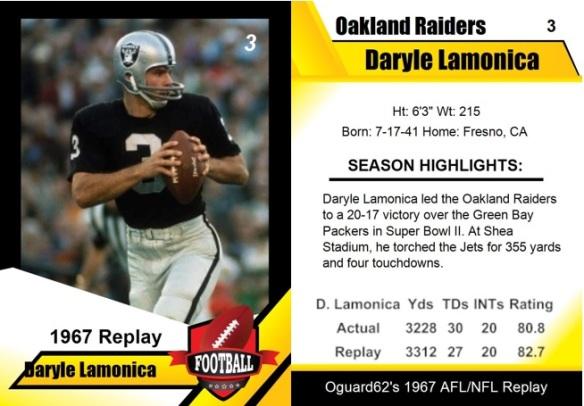 1967 - Daryle Lamonica Card