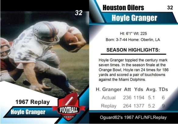 1967 - Hoyle Granger card