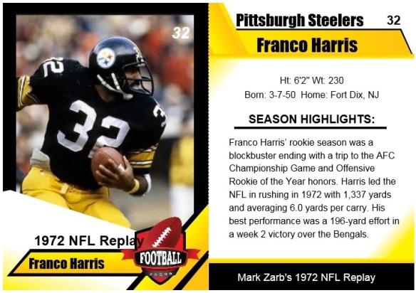 1972 - Franco Harris Card