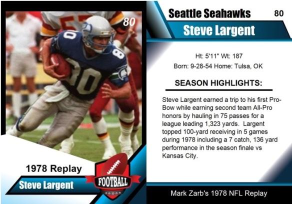 1978 - Steve Largent Card