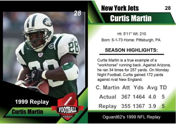 1999 - Curtis Martin