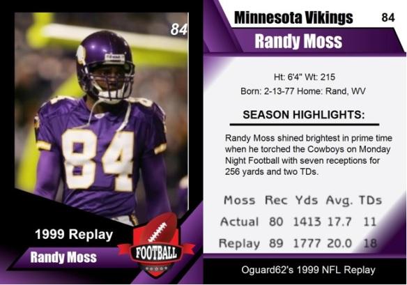 1999 - Randy Moss Card