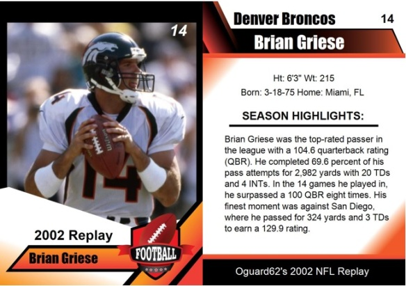 2002 - Brian Griese