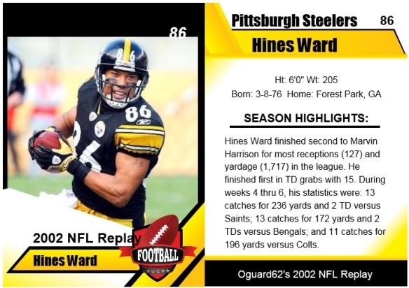 2002 - Hines Ward Card