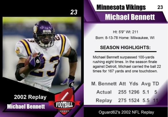 2002 - Michael Bennett Card