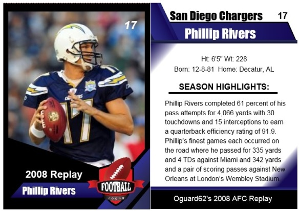 2008 - Phillip Rivers Card