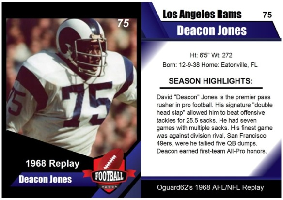1968 - Deacon Jones Card