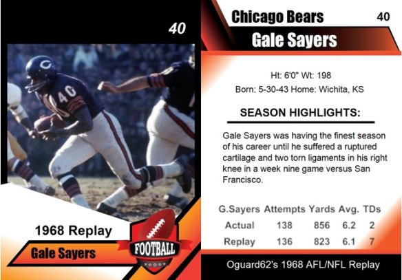 1968 - Gale Sayers Card