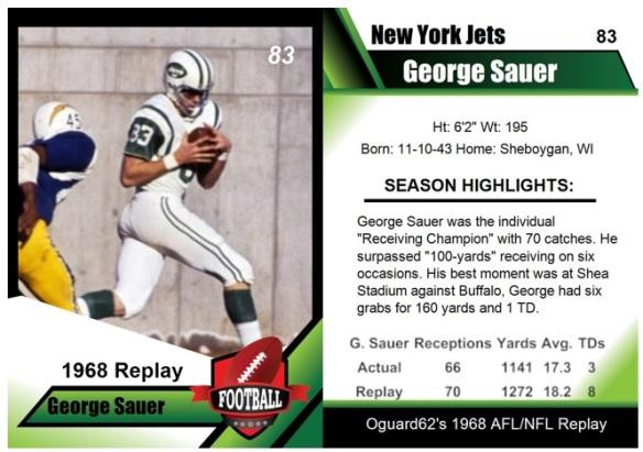1968 - George Sauer Card