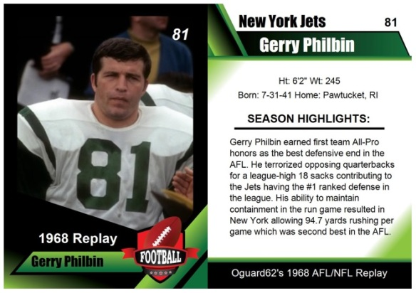 1968 - Gerry Philbin Card