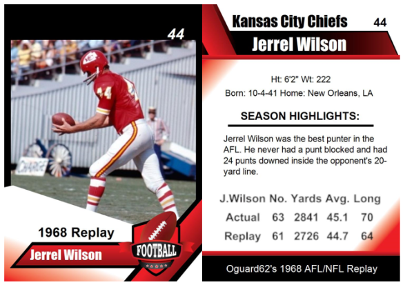1968 - Jerrel Wilson Card
