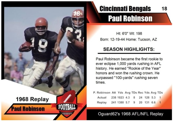 1968 - Paul Robinson Card