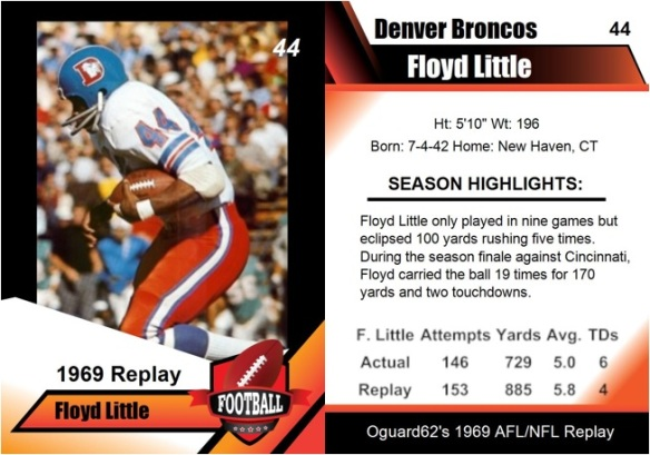 1969 - Floyd Little Card