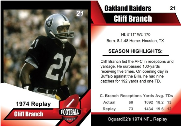 1974 - Cliff Branch