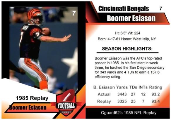 1985 - Boomer Esiason Card