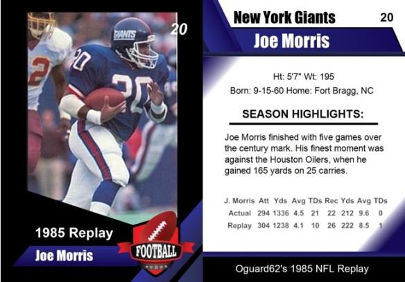 1985 - Joe Morris