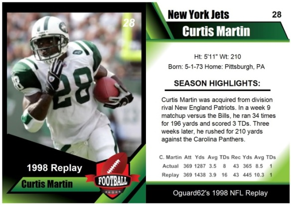 1998- Curtis Martin Card